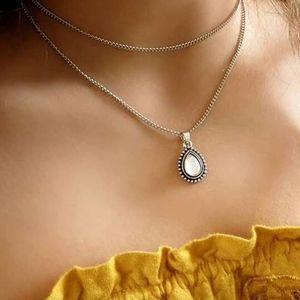 Jewelry - Opal Moonstone Gemstone Layered Choker Necklace